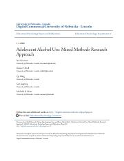 Adolescent Alcohol Use - Mixed Methods Research Approach.pdf