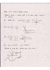 Piecewise Defined Functions