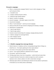 Notes on Persuasive Campaigns