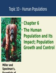 Topic 10 Human population growth