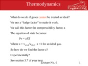 Lecture models for gases