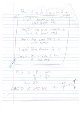 Class Note Building an Equation