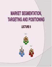 Lecture 6- segmentation, targeting and positioning.ppt