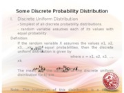 Lesson 7 Useful Probability Distributions