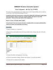 Excel Assignment