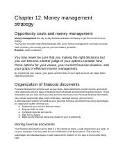 Chapter 12: Money management strategy.docx