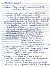 Seminar notes - race, gender & bomba in puerto rico (part 1)