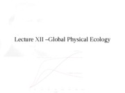"Lecture XII â€"" Global Physical Ecology"
