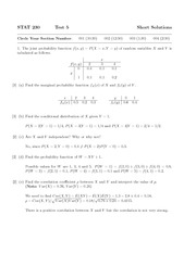 Test 5 Solutions