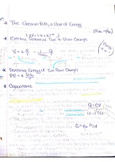 General Physics 2- Electric Volt Notes