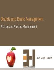 1. Brands and Product-Brand Management