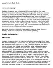 social anthropology Research Paper Starter - eNotes