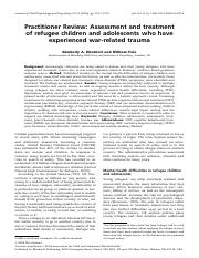 Assesment and treatment of refugee children.pdf