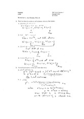 Worksheet 6 Solution on Calculus 1