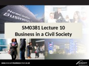 SM0381 Lecture 10 Business in a Civil Society
