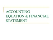 W3 - ACCOUNTING EQUATION & FINANCIAL STATEMENT