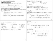Lecture Notes on Integration by Substitution
