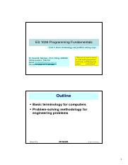 Unit 2-Basic Terminology and Problem Solving Steps