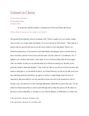 United in Christ - Emmalee Bates - Final Paper.docx