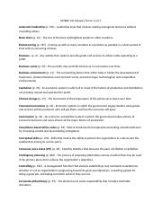 Glossary Terms Exam 1 Chapters 1, 2, 4, 7