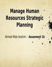 Manage Human Resources Strategic Planning 1b