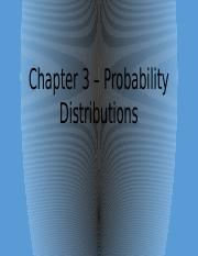 3. Probability Distributions (for BB)