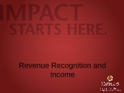 Exam 2 5-Revenue Recognition and Income