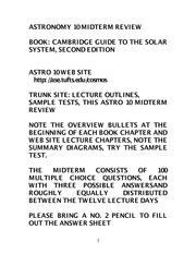 Astro Review notes