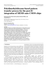 Polydimethylsiloxane-based pattern transfer process for the post-IC integration of MEMS onto CMOS ch