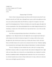 Response Paper #2 - The Iliad