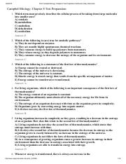 Print Campbell Biology_ Chapter 8 Test Preparation flashcards _ Easy Notecards