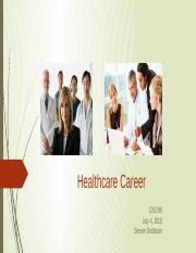 Healthcare IT Career Assignment