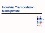 Industrial Transportation Management