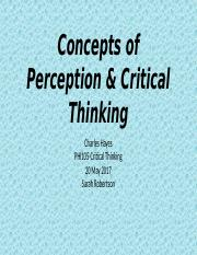 Concepts of Perception & Critical Thinking.pptx