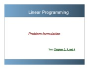 Linear Programming - Problem Formation Week 3