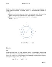 GE 311- HW1- X,Y,Z Coordinate system, Change in Bar Length