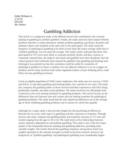 Gambling articles for final paper