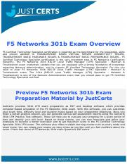 301b Dumps | F5 Certified Technology Specialist Exam Questions