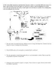 Miller experiment notes