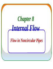 9- Flow in Noncircular Pipes