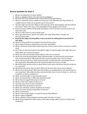 Physiological Psychology Exam 3 Study Guide