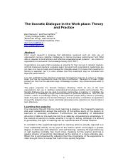 Lectura - 02 EJKM - Socratic Dialogue - 17FEB09 - As submitted.pdf