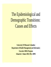 8544- 11- Demographic and Epidemiological Transition