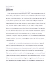 Business Proposal Essay: Propósito de una Empresa