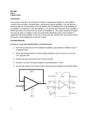 Lab 4 Operational Amplifier