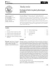 Valladares-Ecological limits to plant phenotypic plasticity
