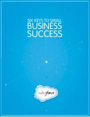Six Keys To Small Business Success