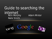 Guide to Searching the Internet final presentation