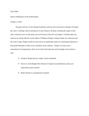 Globalization Paper Outline