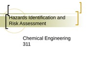 Hazards Identification and Risk Assessment student
